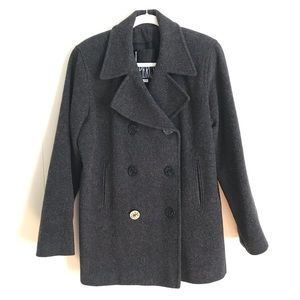 Vintage J. Percy Gray Wool Pea Coat Womens L/XL